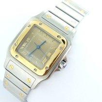 Cartier Santos Galbee Herren Uhr Stahl/gold Box