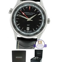 Hamilton Jazzmaster GMT Automatic Black Dial Leather Band Watch