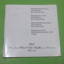 IWC vintage booklet papers porsche design ref.3330/4530