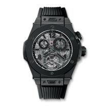 Hublot Big Bang Tourbillon Chrono Cathedral Minute Rep All Black