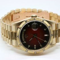Rolex Oyster Perpetual Day Date Borke Vignette Dial LC100 Diamant