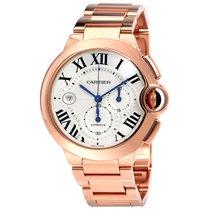 Cartier w6920010 Ballon Bleu Chronograph 18kt Rose Gold NEW