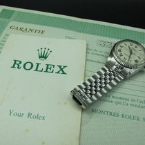 Rolex DATEJUST 1601 SS ORIGINAL White Creamy Buckley Dial with...