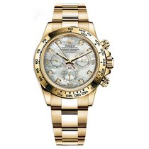 Rolex DAYTONA 18K Yellow Gold White MOP Diamond Dial