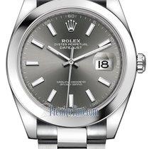 Rolex Datejust 41mm Stainless Steel 126300 Dark Rhodium Index...