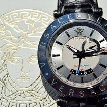 Versace V-Race Grey Dial Men's GMT Alarm Watch 29G98D535...