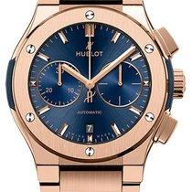 Hublot Classic Fusion Blue Chronograph King Gold Barcelet
