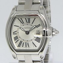 Cartier Roadster Stainless Steel Silver Dial Ladies Quartz...