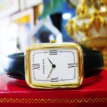Tiffany & Co 18k Yellow Gold Roman Numeral Quartz Rectangl...