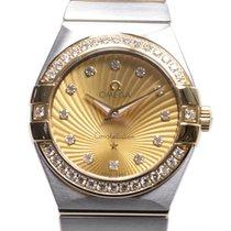 Omega Constellation Gold Steel Diamond Gold Quartz 123.25.27.6...
