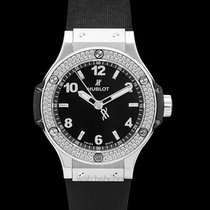 "Hublot Big Bang ""Steel Diamonds"" Black Steel/Rubber 38mm -..."