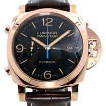 Panerai PAM 525 Luminor 1950 44mm Red Gold Brown Leather 2017