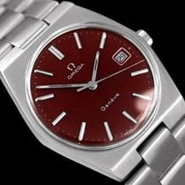 Omega 1972 Geneve Vintage Mens Watch, Quick-Setting Date, Red...