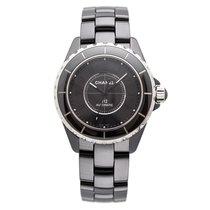 Chanel J12 Intense Black Black Ceramic&Steel, Black Dial...