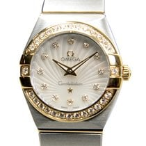 Omega Constellation Gold Steel Diamond White Quartz 123.25.24....