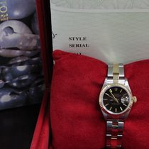 Rolex Ladies Datejust 69173 Black dial 18K Yellow Gold &...