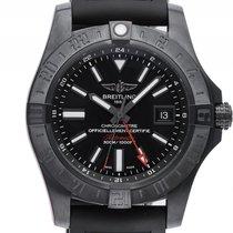 Breitling Avenger II GMT Black Stahl Automatik Armband...