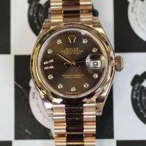 Rolex 279165 Datejust Choc Diam Star Dial Rose Gold