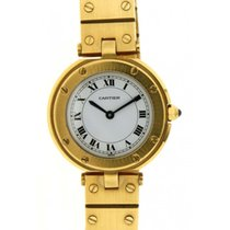 Cartier Santos Ronde W3315 In 18kt Yellow Gold