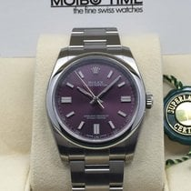 Rolex Oyster Perpetual Red Grape Purple Index 369 Dial 36mm [NEW]