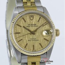 Tudor Prince Oysterdate Steel Gold Bezel Tapestry Dial