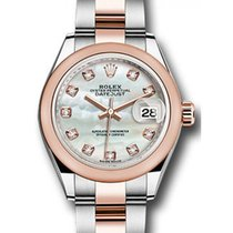Rolex Datejust 28 279161 White Mother of Pearl Diamond Domed...