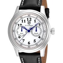 S.Coifman Military Mens Day/Date - Stainless Steel - White...