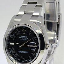 Rolex Datejust II Stainless Steel Black Roman Dial Mens Watch...