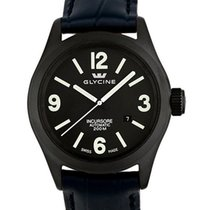Glycine Incursore Automatic PVD Coated Steel Mens Watch Black...