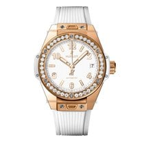 Hublot Big Bang 39mm One Click King Gold Diamonds Ladies Watch...