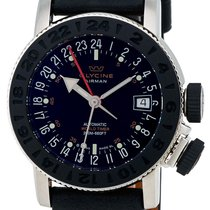 Glycine Airman 18 Sphair Automatic GMT Worldtimer Steel Mens...
