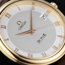 Omega De Ville Prestige Gold 18k/750 Krokoleder Herrenuhr neu...