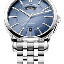 Maurice Lacroix Pontos Day/Date Blue Dial Silver Index, Steel...