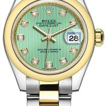 Rolex Lady Datejust 28 Mint Green Dial Steel and 18kt Yellow...