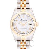 Rolex Lady Oyster Perpetual White MOP Steel/18k gold Ø26 mm -...