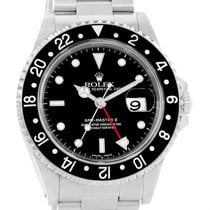 Rolex Gmt Master Ii Black Bezel Stainless Steel Mens Watch 16710
