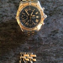 Breitling Crosswind Racing chronograph FULL Steel/Gold BlueDial