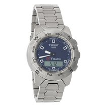 Tissot T-Touch Mens Titanium Blue Dial Watch T33.7.588.41
