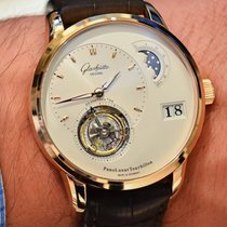 Glashütte Original PanoLunar Tourbillon Brown Leather Strap...