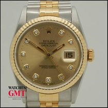 Rolex Datejust Steel & Gold Full Set New Never Used N.O.S