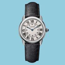 Cartier Ronde Solo De Cartier 29mm Stahl, Lederband -NEU-