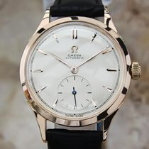 Omega Swiss Made 1960s Rose Gold 18k Bumper Automatic 33mm...