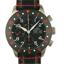 Hacher Atlantis Red Chronograph GMT Day Date Stahl Automatik...