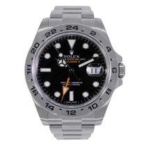 Rolex EXPLORER II Stainless Steel Black Dial