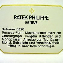Patek Philippe Referenz 5020 Grand Complication