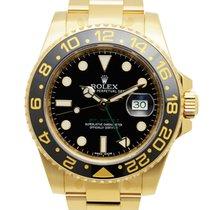 ロレックス (Rolex) Gmt-master II 18 K Yellow Gold Black Automatic...