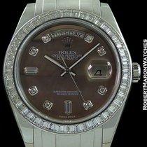 Rolex Masterpiece Day Date President Platinum Baguette Diamond...