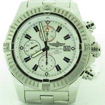 Breitling A13370 Super Avenger Chronograph White Dial Automati...