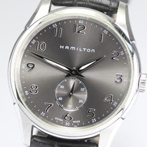Hamilton JAZZMASTER THINLINE SMALL SECOND QUARZO Black-Leather...