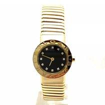 Bulgari 18k Solid Yellow Gold Ladies Watch W Factory Diamonds...